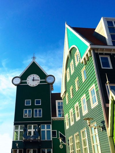 Building Exterior Architecture Built Structure Low Angle View Window Sky House Day Outdoors No People City Clock IPhoneography Zaandam Cityhall Trainstation