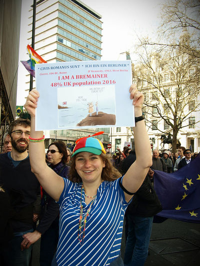 Unite For Europe, protest March, London 25-03-2017 25-03-2017 Bremainers Brexit Europe London News Olympus Protest Steve Merrick Stevesevilempire Uk Unite For Europe Zuiko