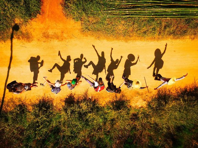 Time for fun after our 3 day hike from Kalaw to Inle Lake. ASIA Bestoftheday Birds Eye View Drone  Drone Moments Drones Droneshot From Above  Fun Funny Moments Funny Pics Hiking Hiking Adventures Hiking Trail Hikingadventures Large Group Of People Outdoor Photography Party Party Time People Shadow Flying High Flying High