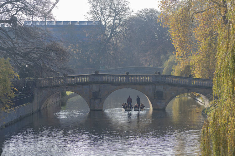 Bridge Water Architecture River Plant Arch Arch Bridge Day Reflection Outdoors Stone Bridge Boat Punting Punting On The River Gondola - Traditional Boat Autumn Fall College Campus Cambridge England Sunny Crisp Tree Beauty In Nature