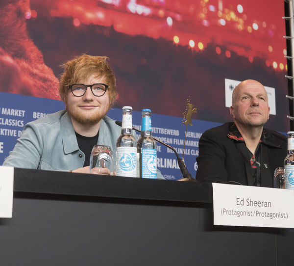 Berlin, Germany - February 23, 2018: English singer, songwriter, guitarist Ed Sheeran and host Anatol Weber attend the 'Songwriter' press conference at 68th Berlinale 2018 Artist Celebrity Ed Sheeran Ed Sheeran <3 Ed Sheraan❤ Famous Singer  Singer/Song Writer Adult Anatol Weber Berlinale Berlinale 2018 Berlinale Festival Berlinale2018 Berlinale68 Celebrities Famous People Front View Looking At Camera Portrait Press Conference Singer And Artist Song Writer Waist Up