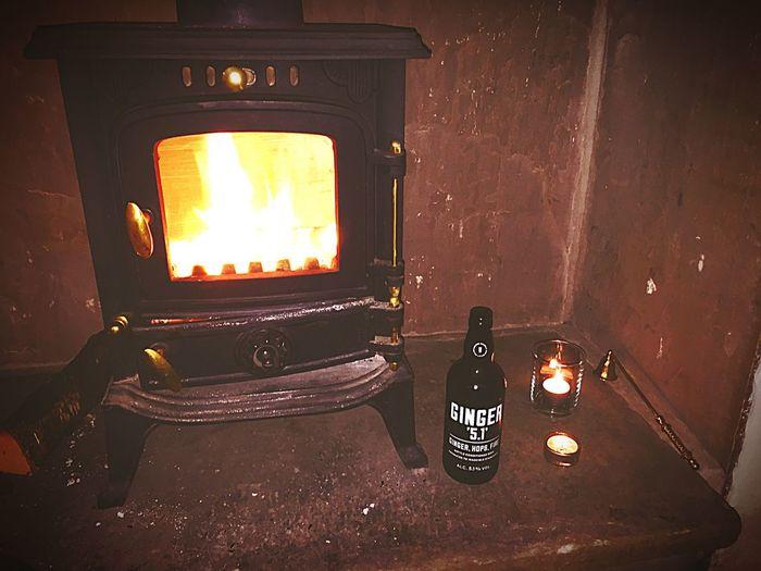 Enjoying Life Ginger Ale Fire Fireplace Woodburning Stove