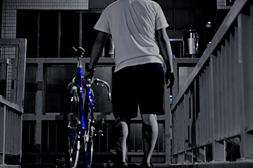 Me and my bicycle iBicycle eSelf-portrait hPhotographer tStreet Photographer oYoung Photographer iNikon Photographer lBlackandwhite oMonochrome Fixedgear Bicycle