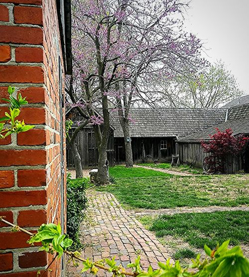 Barn smokehouse 1850's Homestead Telling Stories Differently Brick Sidewalk Brick Building Historical Building Spring Is In The Air EyeEm Gallery Eyeem Photography American Life Outdoor Photography Rustic Charm Civil War History Phoneography The Irwin Collection
