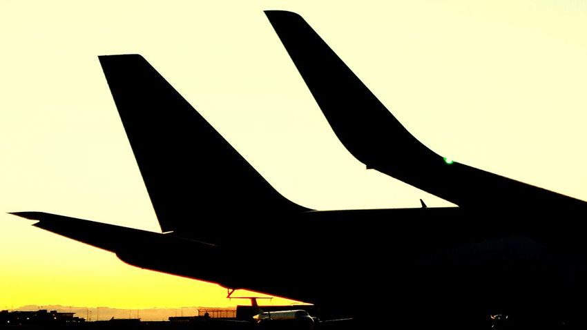UPS Boeing 767 Vancouver Streamzoo Tadaa Community Sunset Silhouettes Sunset_collection Sun_ Collection