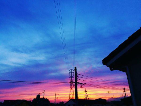 Blue Sunset Gradation Sky Cloud - Sky After Glow