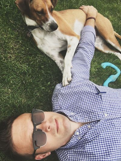Friday Funday Dog Person That's Me! Grass Sunglasses