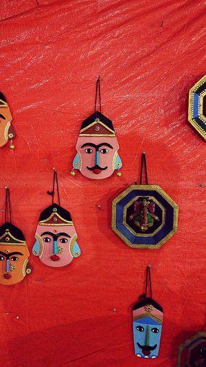 Indegenious handicrafts Religion Spirituality Architecture Multi Colored Red