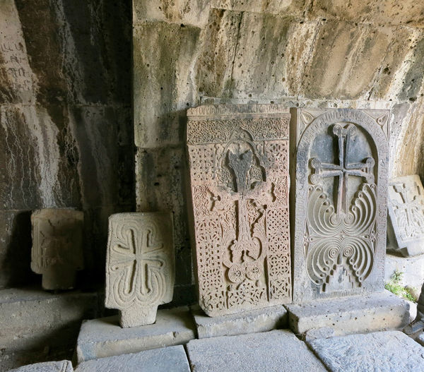 Armenia September Spirituality Ancient Ancient Civilization Architecture Art And Craft Bas Relief Belief Building Exterior Built Structure Carving - Craft Product Craft Cross Stones History No People Old Old Ruin Oriental Orthodox Church Place Of Worship Religion Stone Material The Past Travel Destination W-armenien