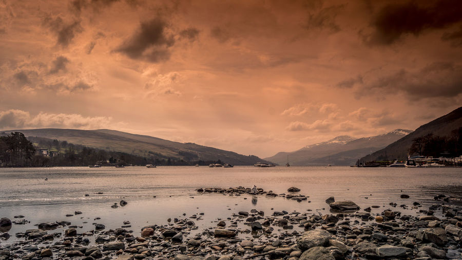 Sky Water Cloud - Sky Scenics - Nature Tranquility Nature No People Beauty In Nature Tranquil Scene Mountain Loch Tay Dalerb Kenmore Landscape Long Exposure Scotland