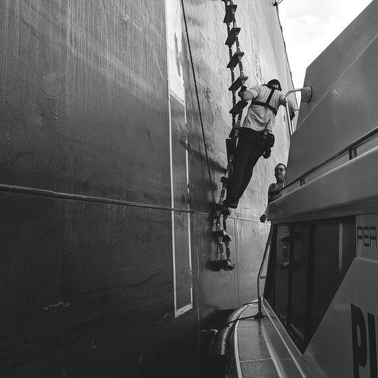 Nautical Theme Nautical Vessel Cargo Ship Life Onboard Sky Close-up Climbing Wall Climbing Boat Outrigger
