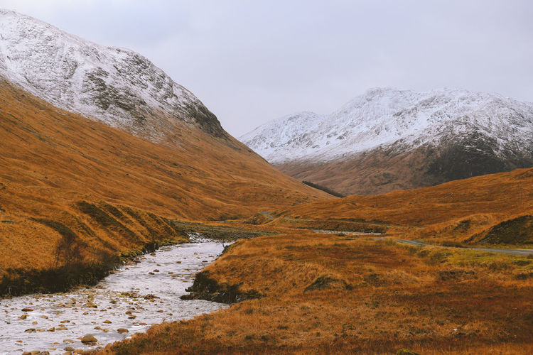 Scottish highlands in winter scotland landscape