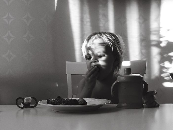 Monochrome Lunch Girl Childhood Sunny Day Children Photography Black And White People Photography Blackandwhite Girl Power Potrait_photography Simple Photography Simplicity Blackandwhite Photography Minimalism Portrait Bnw Bnw_collection Thoughtful Bnw_captures Natural Light Portrait Uniqueness The Portraitist - 2017 EyeEm Awards Visual Feast This Is Family Capture Tomorrow My Best Photo