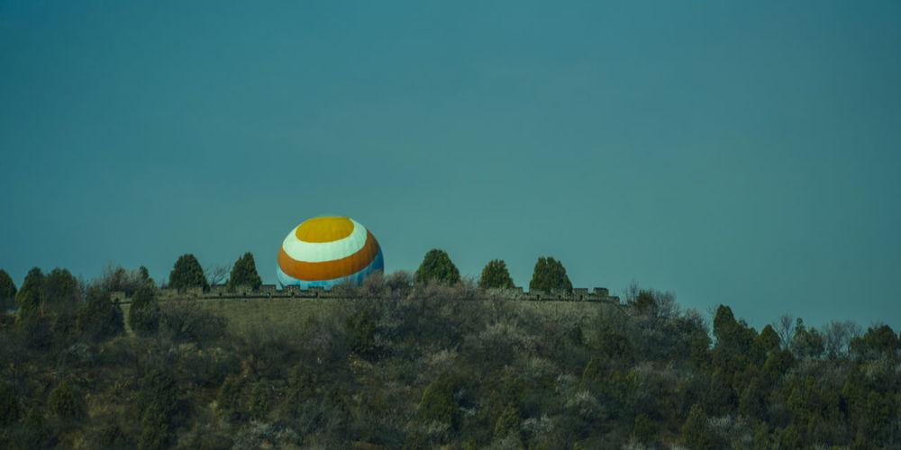 艺术赶潮流,到处顶个球,登城一长眺,球也上城楼。 ball Tree Sky Plant Balloon Outdoors Ball Wall Building