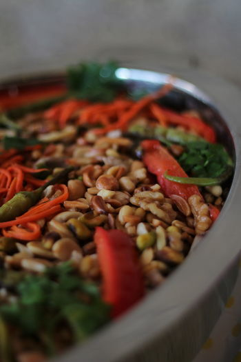 Close-up of fresh food in bowl
