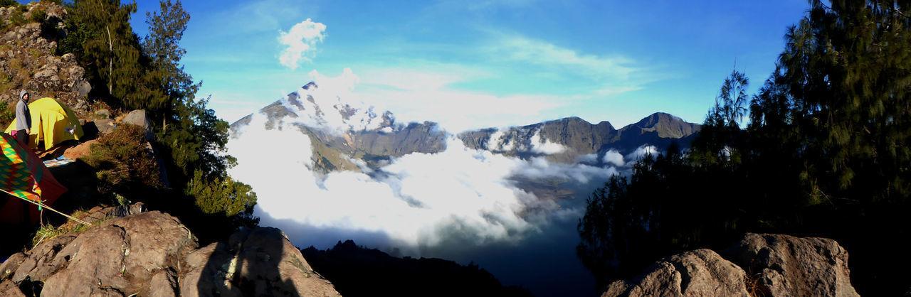 INDONESIA Beauty In Nature Cloud - Sky Lombok Mountain Nature No People Outdoors Rinjani Scenics - Nature Sky The Great Outdoors - 2018 EyeEm Awards The Traveler - 2018 EyeEm Awards
