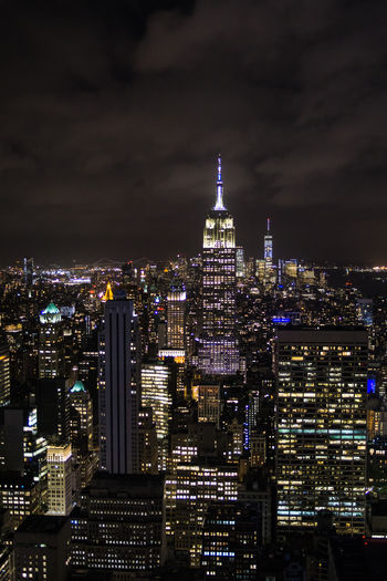 Empire State Building New York New York City Architecture Building Building Exterior Built Structure City Cityscape Illuminated Luminosity Modern Night Outdoors Skyscraper Tall - High