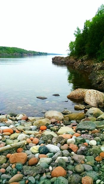 Lake Superior The North Shore I Can See For Miles Beauty In Nature Up North Water Rock Beach No People Minnesota Love