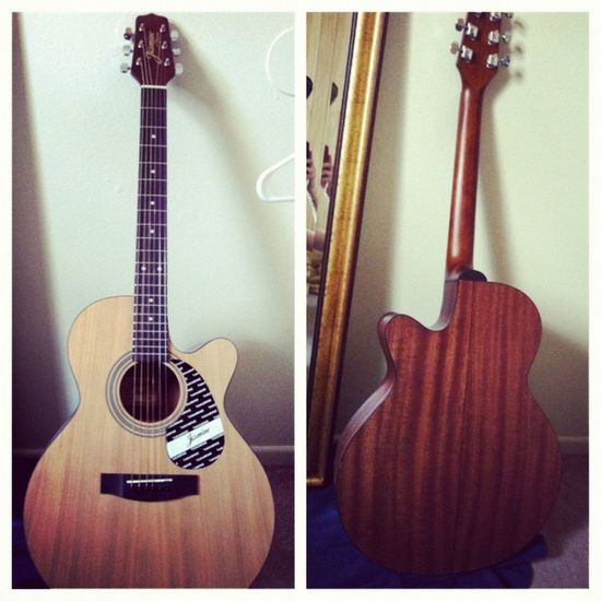 Just in time!! Picstitch  Guitar Acoustic Jazmine takamine