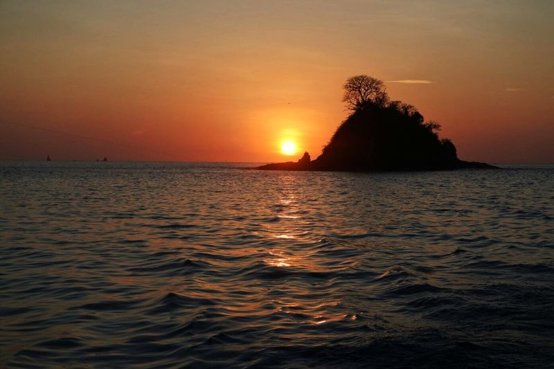 Sunset No People Playa Hermosa Costa Rica