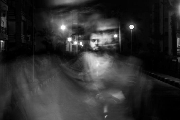 Conceptual ArtWork Blackandwhite Darkness Fine Art Photography Lonely Me Night Surréalisme