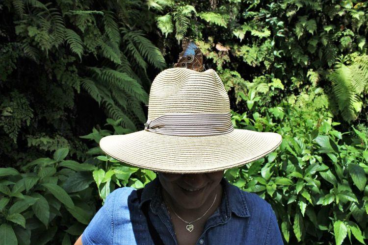 Portrait of woman wearing hat