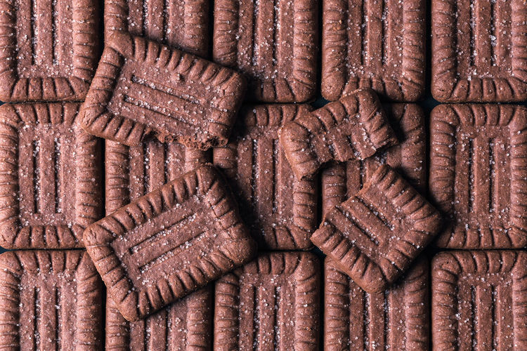 High angle view of leather on wood