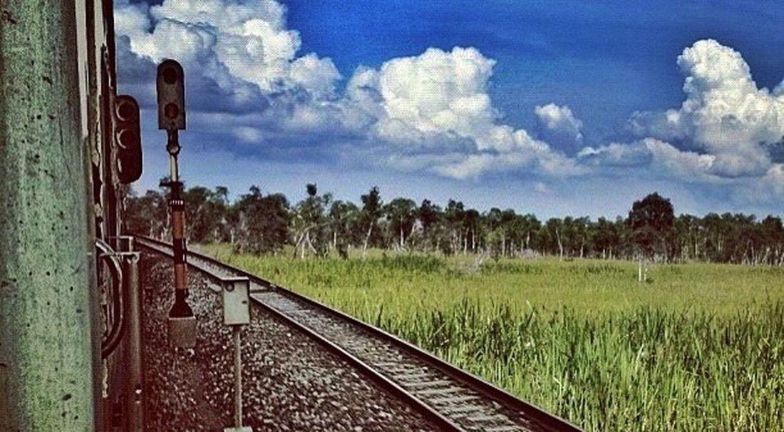 PERJALANAN INI • ku layangkan pandangku melalui kaca jendela, dari tempat ku bersandar seiring lantun kereta, membawaku melintasi tempat-tempat yang indah • PADI
