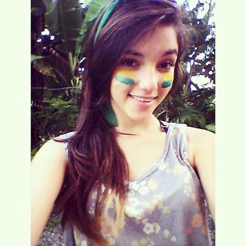Tenho orgulho de ser brasileira!! Confiamos em ti Brasil. A TAÇA É NOSSAAAAAA! O Gigante Acordou #vaiBrasil Somos Brasil  Forever Ilovebrasil ♥♥♥♥