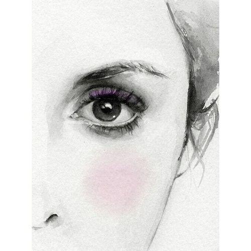 рисоватьтакрисовать ленинградскиекраски лучшеночью вспомнитьвсе insomnia eyes drawing night purple blush