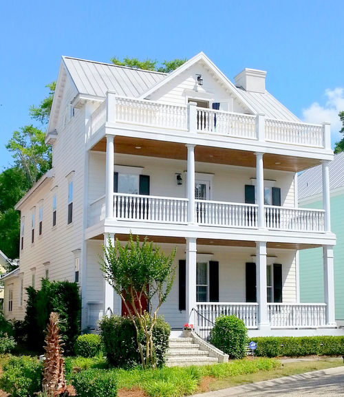 Abode Beach House Charleston Style Exterior Historic Home Sweet Home Houses One Meeting Place Porches Wilmington NC