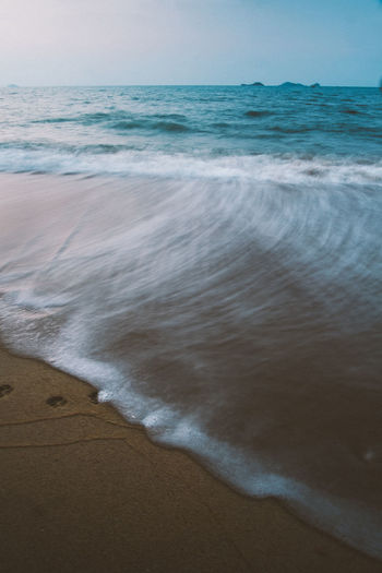 Beach Beauty In Nature Horizon Over Water Nature No People Outdoors Sand Scenics Sea Shore Tranquility Water Wave Break The Mold Sommergefühle