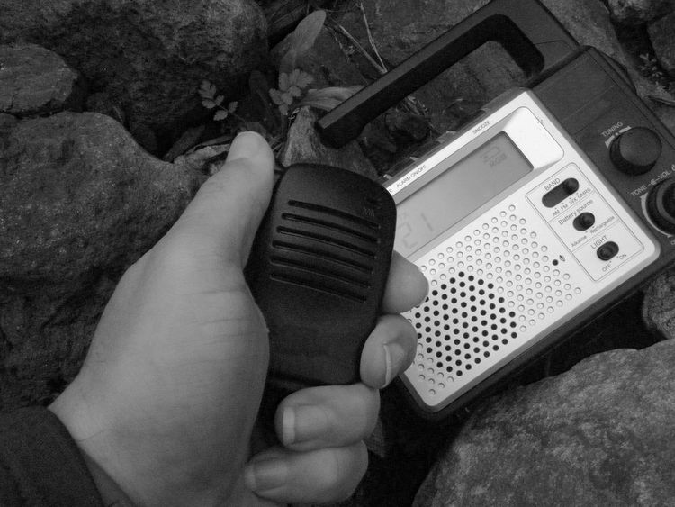I was checking all the batteries today😬 this is a 2 way radio base station. also a hand crank recharge and AA batteries. AM/FM/weather/GMRS 2 way. both of these radios have a flashlight built in. Taking Photos Portable Radio 2 Way Radio Old School Technology CB Radio Push To Talk Mic Communication Outdoors Camping Gadget Blackandwhite Black And White Black & White