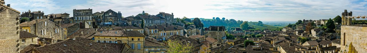 Panoramic view of Saint-Emilion village in France Panorama Panoramic St Emillion Banner France 🇫🇷 Village Viticulture Wine Wineglass Winery