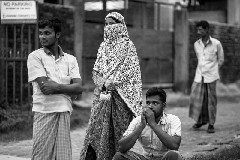 The Street Photographer - 2018 EyeEm Awards Adult Casual Clothing Child Daughter Day Family Focus On Foreground Group Of People Incidental People Leisure Activity Lifestyles Males  Men People Real People Standing Togetherness Women Young Men