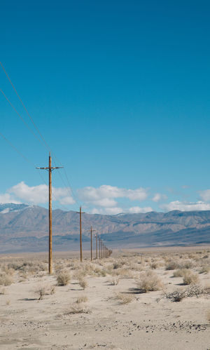 Arid Climate Beauty In Nature Blue Blue Sky CA-190 Cable Connection Coso Day Death Valley Desert Landscape Mountain Mountains Nature Nature No People Olancha Outdoors Road Roadtrip Scenics Sky Tranquil Scene Tranquility