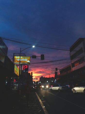 city : sunset sky 🌇 Illuminated City Street Nightlife Traffic City Outdoors City Life Sky Neon Land Vehicle Building Exterior Night Bicol, Philippines It's More Fun In The Philippines EyeEm Silhouette Philippines PhonePhotography Huaweigr52017 Eyeem Philippines Photography Themes EyeEm Selects EyeEm Gallery Cloud - Sky Sunset