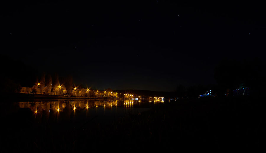 Night on river Moselle Night Nature City Light Sky Glowing Illuminated Tranquility Dark Long Exposure Astrophotography Scenics Beauty In Nature No People Tranquil Scene Water Architecture Reflection Copy Space Built Structure Waterfront Building Exterior River Lighting Equipment Connection Travel Destinations