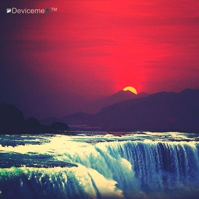 Taken with Snapseed indonesia Deviceme created by app Wowfx beautiful Sunset