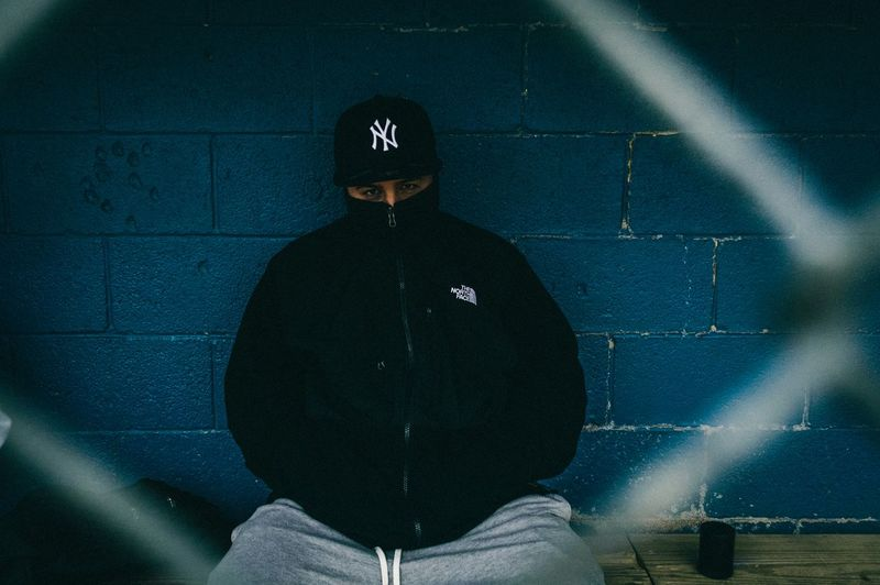 Man standing in the dark