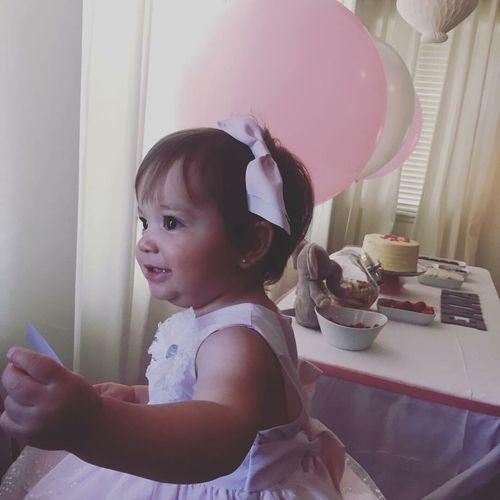 Pink Color Birthday Cake Birthday Party Birthdaygirl One Oneyear Oneyearold Celebration