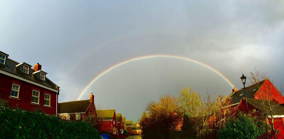 Rainbow part2 Double Rainbow Rainbow Rain Sun Colours Winter Weather Weatherchannel Northampton Northamptonshire Northants Village Sun And Rain Sun&rain