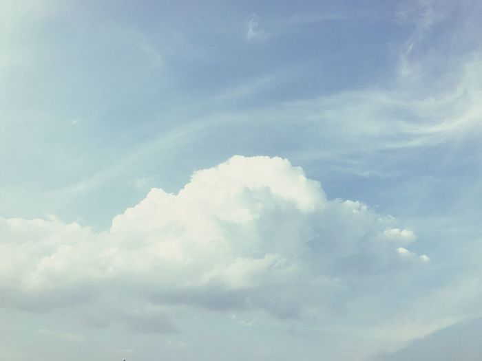 Beautiful cloud and sky background. Cloud And Sky Sky Background Clouds Background Cloud - Sky Cloud - Sky Sky Beauty In Nature Scenics - Nature Tranquility Nature No People Tranquil Scene Low Angle View Idyllic Day Backgrounds Blue Outdoors Cloudscape White Color Full Frame Sunlight Environment Meteorology
