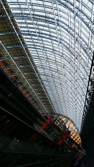 King's Cross, St Pancras International Glass Roof Largest Glass Roof Light