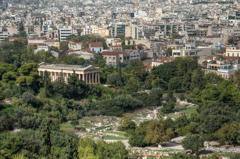 Acropolis Aerial View Architecture Athens Building Exterior Built Structure City City Life Cityscape Community Elevated View Greece GREECE ♥♥ Growth High Angle View Human Settlement Landscape Residential Building Residential District Residential Structure Town TOWNSCAPE Travel Tree ακρόπολη