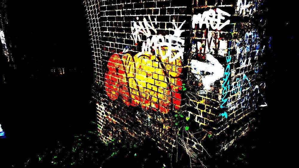 Glowing Effect Multi Colours Bright Orange Brick Bridge Brick Wall Art Brick Wall Graffiti Art Graffiti Graffiti Wall Effects Black&white  43 Golden Moments Embrace Urban Life Finding New Frontiers