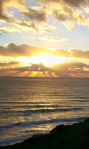 Sunset Sea Beach Beauty In Nature Tramonto Sul Mare Licatese