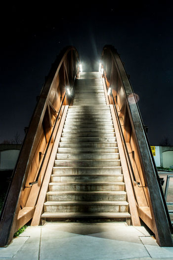 Architecture Astronomy Built Structure Illuminated Low Angle View Nature Night No People Outdoors Sky Staircase Steps Steps And Staircases The Way Forward