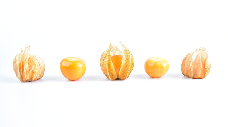 fresh fruit for eat. Cape Gooseberry Close-up Food Food And Drink Freshness Fruit Healthy Eating White Background