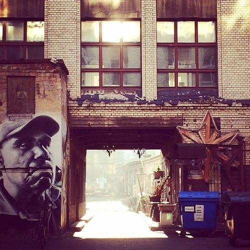 Berlincity Schönhauser Allee In The Courtyard Graffiti Art Streetart/graffiti Sunlight Reflection Suncast Gate Raw Urbanexploration